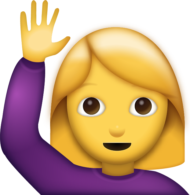 Download Woman Saying Hi Emoji [Free Download IOS Emojis